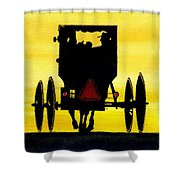 Amish Buggy At Dusk Shower Curtain by Michael Vigliotti