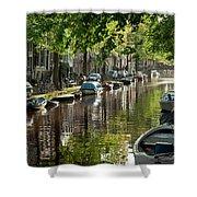Amsterdam Canal Shower Curtain by Joan Carroll