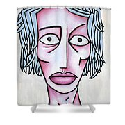 amy Shower Curtain by Thomas Valentine