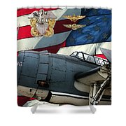 An American Tbf Avenger Pof Shower Curtain by Tommy Anderson
