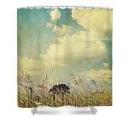 And The Livin's Easy Shower Curtain by Laurie Search