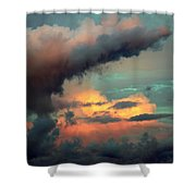 And The Thunder Rolls Shower Curtain by Karen Wiles