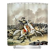 Andrew Jackson At The Battle Of New Orleans Shower Curtain by War Is Hell Store