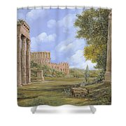 Anfiteatro Romano Shower Curtain by Guido Borelli