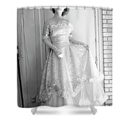 Angel in my backyard Shower Curtain by James W Johnson