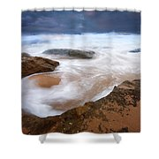 Angry Sea Shower Curtain by Mike  Dawson