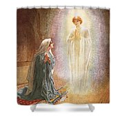 Annunciation Shower Curtain by William Brassey Hole
