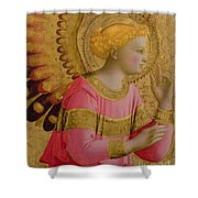 Annunciatory Angel Shower Curtain by Fra Angelico