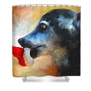 Anticipating Christmas Shower Curtain by Jai Johnson