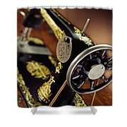 Antique Singer Sewing Machine 3 Shower Curtain by Kelley King
