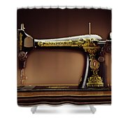 Antique Singer Sewing Machine Shower Curtain by Kelley King