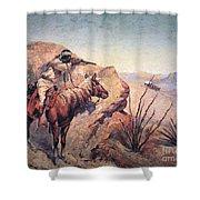 Apache Ambush Shower Curtain by Frederic Remington