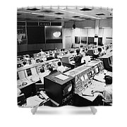Apollo 8: Mission Control Shower Curtain by Granger