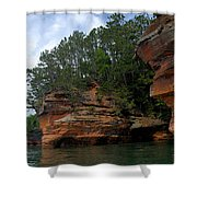 Apostle Islands National Lakeshore Shower Curtain by Larry Ricker