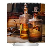 Apothecary - Magic Elixir Shower Curtain by Mike Savad
