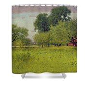 Apple Orchard Shower Curtain by George Snr Inness