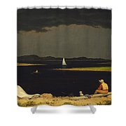 Approaching Thunderstorm Shower Curtain by Martin Heade