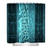 Aqua Drapes Shower Curtain by Wim Lanclus