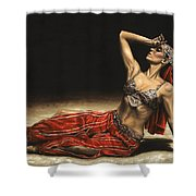 Arabian Coffee Awakes Shower Curtain by Richard Young