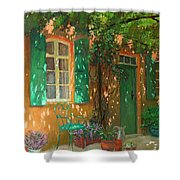 Arbour Shower Curtain by William Ireland