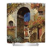Arco Al Buio Shower Curtain by Guido Borelli