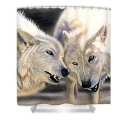 Arctic Pair Shower Curtain by Sandi Baker