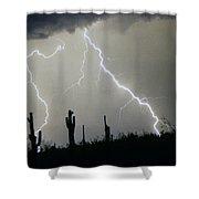 Arizona Desert Storm Shower Curtain by James BO  Insogna