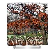 Arlington Cemetery In Fall Shower Curtain by Carolyn Marshall