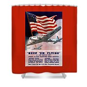 Army Air Corps Recruiting Poster Shower Curtain by War Is Hell Store