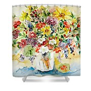 Arrangement IIi Shower Curtain by Ingrid Dohm