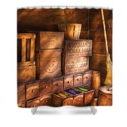 Artist - Assorted  Dyes  Shower Curtain by Mike Savad