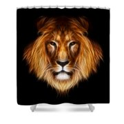 Artistic Lion Shower Curtain by Aimelle