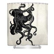 Octopus Shower Curtain by Nicklas Gustafsson