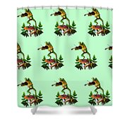 Humorous Tree Frog Playing A Fiddle Shower Curtain by Regina Femrite