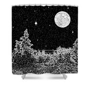 Winter's Night Shower Curtain by Methune Hively