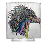 Racing The Wind ... A Story Painting Shower Curtain by Eloise Schneider