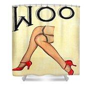 Woo Shower Curtain by Ethna Gillespie