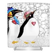 Cold Feet Warm Hearts Shower Curtain by Eloise Schneider