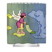Heavenly Housekeeper Shower Curtain by Sarah Batalka