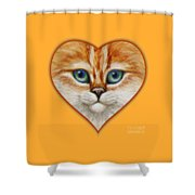 Happy Kitty Shower Curtain by Crista Forest