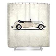 Jaguar Mark Iv Coupe Shower Curtain by Mark Rogan