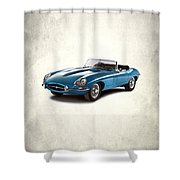Jaguar E-type Shower Curtain by Mark Rogan