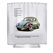 Vw Parts Shower Curtain by Mark Rogan