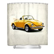 Vw Beetle 1972 Shower Curtain by Mark Rogan