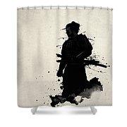 Samurai Shower Curtain by Nicklas Gustafsson