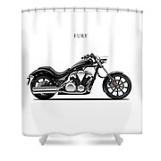 Honda Fury Shower Curtain by Mark Rogan
