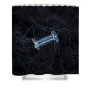 Snowflake Photo - Capped Column Shower Curtain by Alexey Kljatov