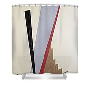 Ascending Shower Curtain by Carolyn Hubbard-Ford