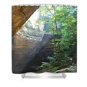 Ash Cave Shower Curtain by Mindy Newman