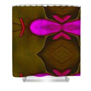 Asian Popart Shower Curtain by Pepita Selles